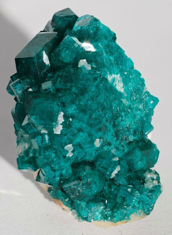 Dioptase with Calcite Tsumeb Mine Otjikoto Region Namibia-#DIO2-4