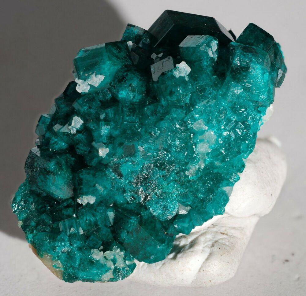 Dioptase with Calcite Tsumeb Mine Otjikoto Region Namibia-#DIO2-5