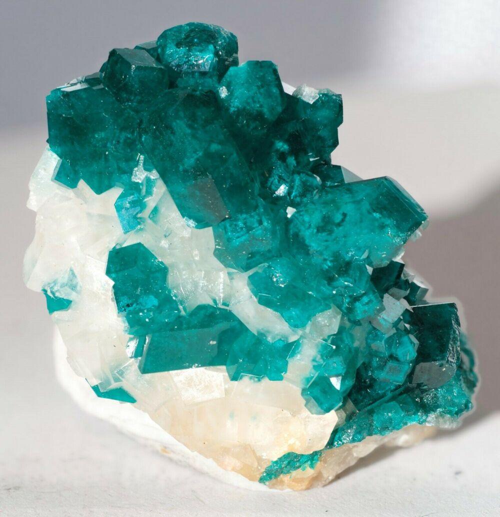Dioptase with Calcite Tsumeb Mine Otjikoto Region Namibia-#DIO2-6