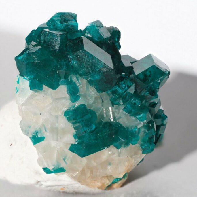 Dioptase with Calcite Tsumeb Mine Otjikoto Region Namibia-#DIO2-7