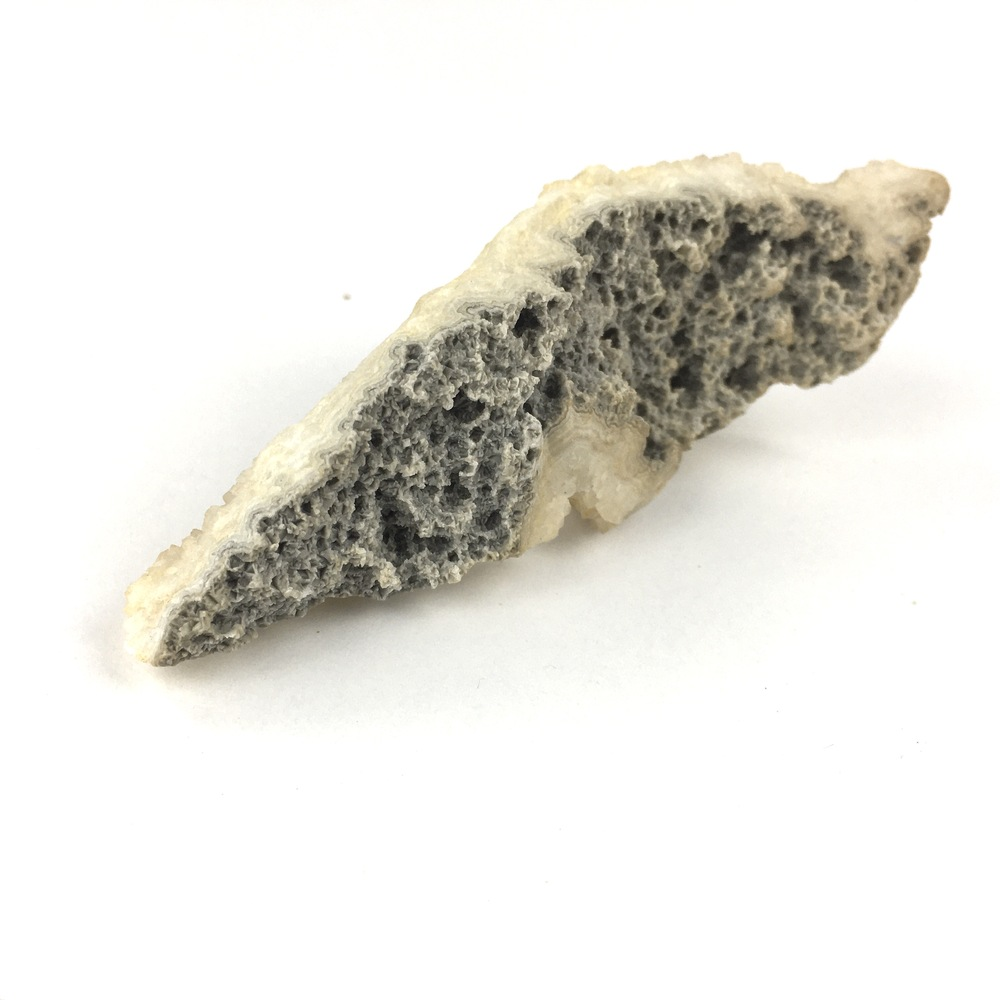 Drusy Chalcedony Quartz Crystal Cluster Growing on Agate Layer on Matrix Rock-#QP11-5