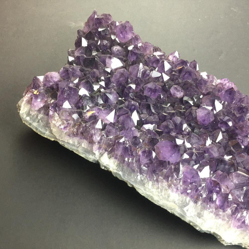 Large Amethyst Cluster Partial Cathedral Display Piece with Gem Wuality Crystals AM29-#AM29-5