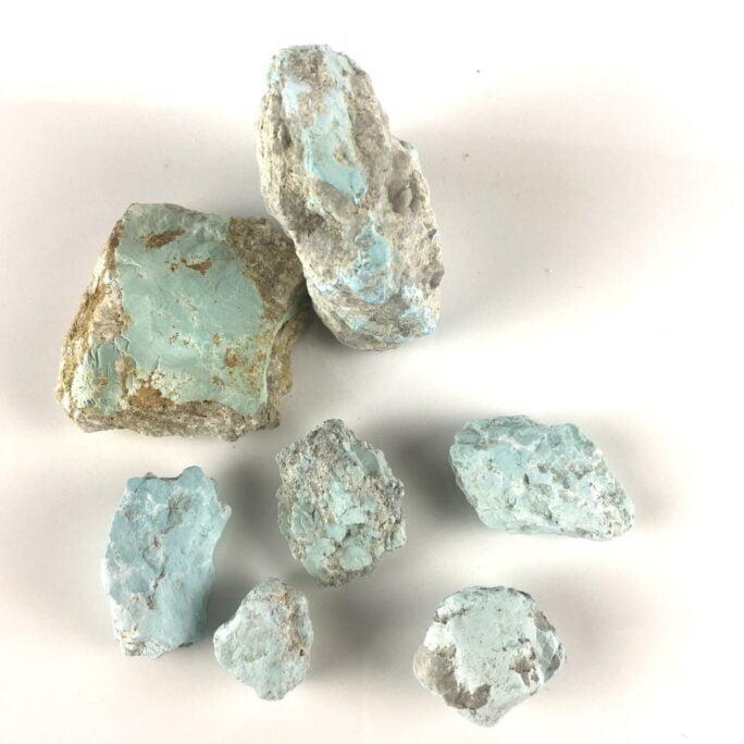Light Blue Turquoise on Matrix 7 Pieces TC9-#TC9-1