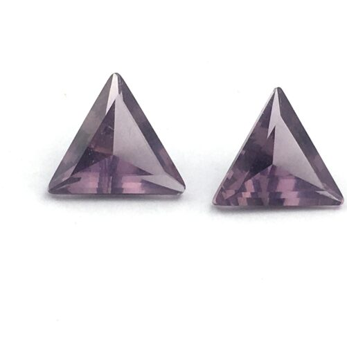 Pair of Amethyst Triangle Gemstones AG2-#AG2-1