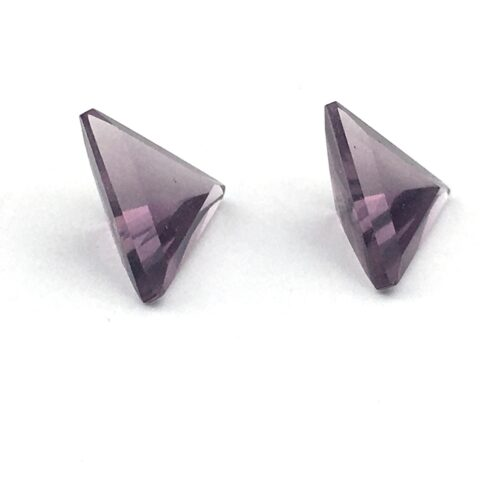 Pair of Amethyst Triangle Gemstones AG2-#AG2-2