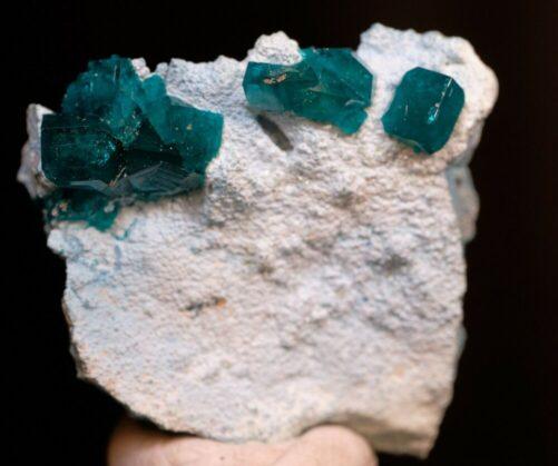 Rare Dioptase on Plancheite Tsumeb Mine Otjikoto Region Namibia DIO4-#DIO4-1