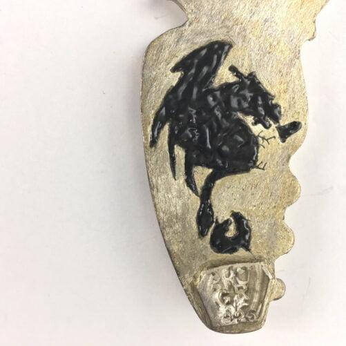 Rare Red on Black Kentucky Agate Pendant with Dragon on Reverse KYA2-#KYA2-3