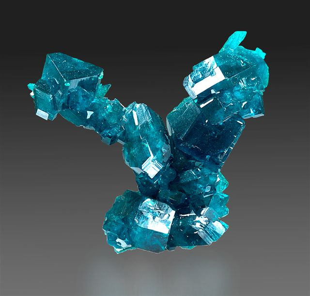 Dioptase Locality: Tsumeb Mine (Tsumcorp Mine), Tsumeb, Otjikoto (Oshikoto) Region, Namibia. Pristine and perfect all around. Erik Louw was a miner on the dioptase stope who traded extensively and accumulated one of the finest Tsumeb miniatures collections, purchased in entirety by the Sussmans in the late 1990's. 4 x 4 x 1 cm